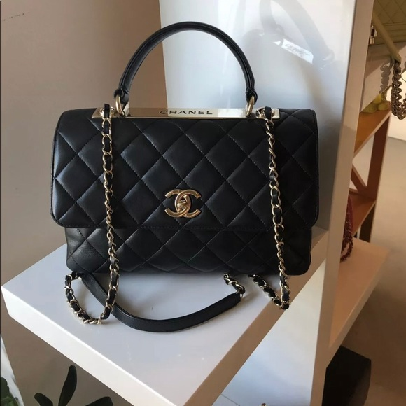 ecaa016fa303 CHANEL Bags | Sold Black Quilted Medium Dual Trendy Bag | Poshmark